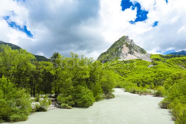 ストックフォト: 谷 · 川 · 春 · フランス · 水 · ツリー