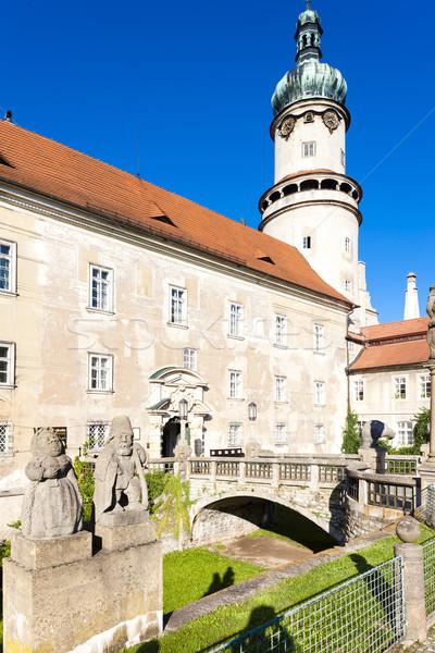 Kastély Csehország épület utazás építészet szobor Stock fotó © phbcz