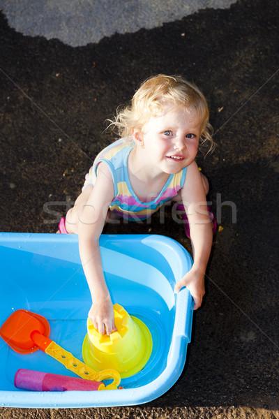少女 演奏 夏 幸せ 子 ストックフォト © phbcz