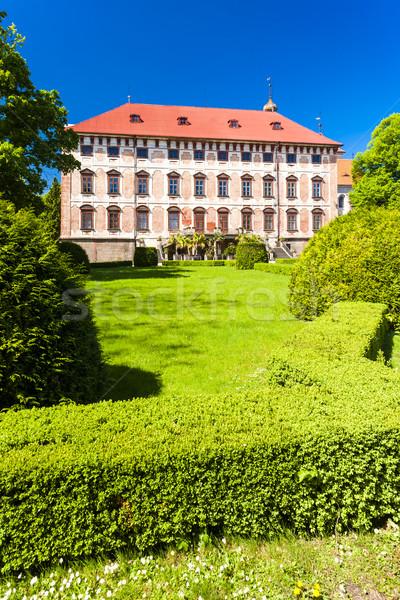 Palota Csehország épület kert utazás építészet Stock fotó © phbcz