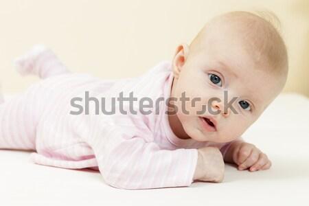 Tres meses edad nina nino Foto stock © phbcz