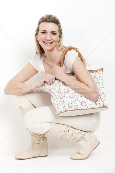 Donna indossare estate stivali borsa scarpe Foto d'archivio © phbcz