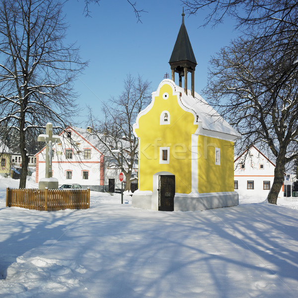 little church, Holasovice, Czech Republic Stock photo © phbcz