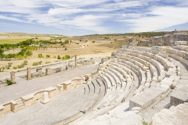 Roman Theatre of Segobriga, Saelices, Castile-La Mancha, Spain Stock photo © phbcz