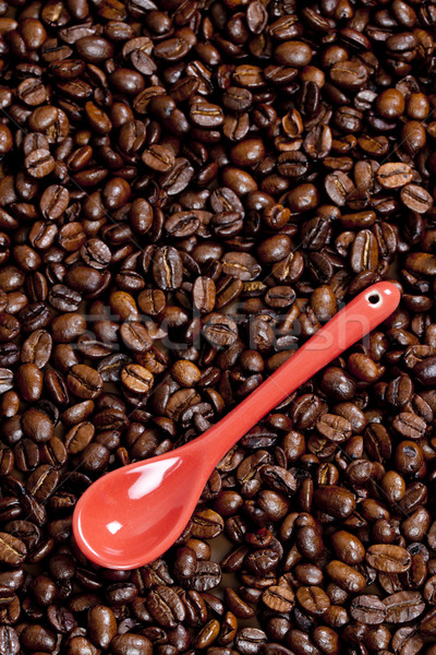Stock photo: teaspoon with coffee beans