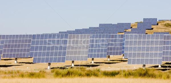 Stock photo: solar panels, Extremadura, Spain