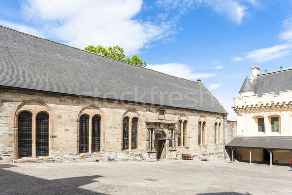 Kasteel Schotland architectuur Europa geschiedenis middeleeuwse Stockfoto © phbcz