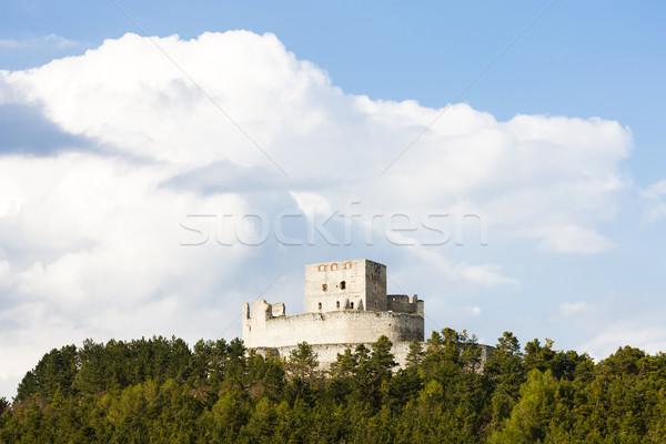 Stock fotó: Romok · kastély · Csehország · épület · utazás · építészet
