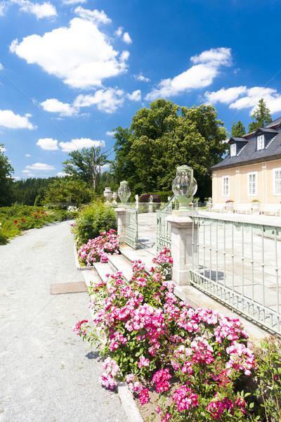 Kozel Palace with garden, Czech Republic Stock photo © phbcz