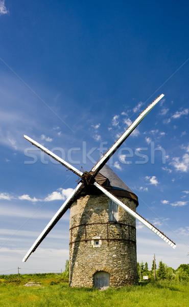 windmill, La Roche, Loire Valley, France Stock photo © phbcz