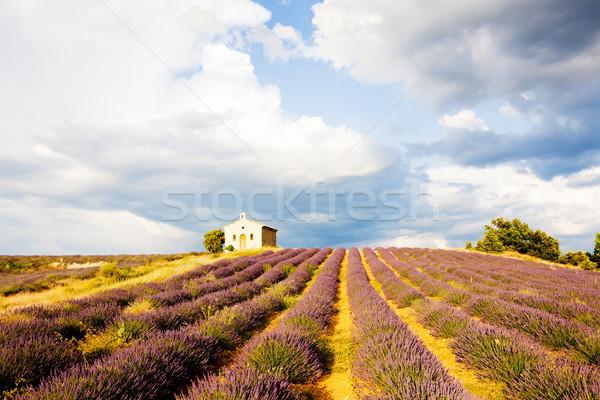 часовня плато цветок здании пейзаж Сток-фото © phbcz