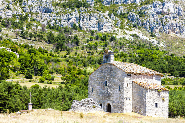 Chapel Notre-Dame de Gratemoine, Seranon, Provence, France Stock photo © phbcz