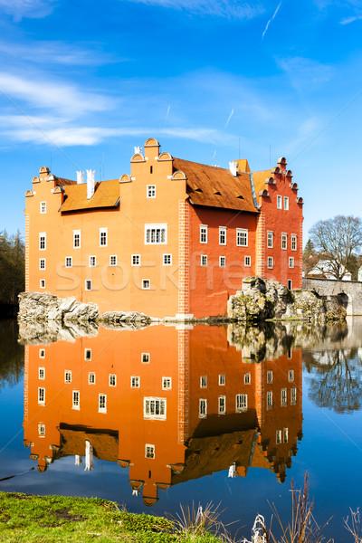 ストックフォト: 宮殿 · チェコ共和国 · 水 · 旅行 · 城 · アーキテクチャ