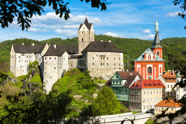 Loket Castle with town, Czech Republic Stock photo © phbcz