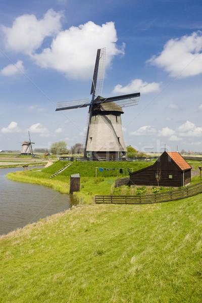 Pays-Bas moulin à vent moulin extérieur à l'extérieur Photo stock © phbcz