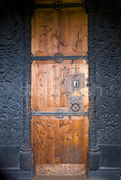 Сток-фото: двери · Норвегия · здании · древесины · дверей · Открытый