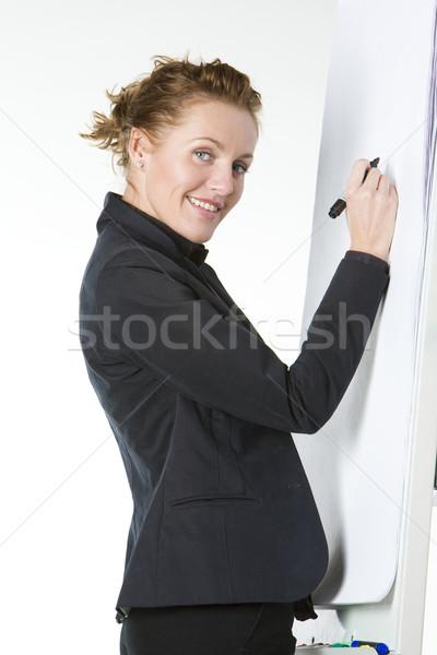 деловая женщина женщину работу Дать костюм Сток-фото © phbcz