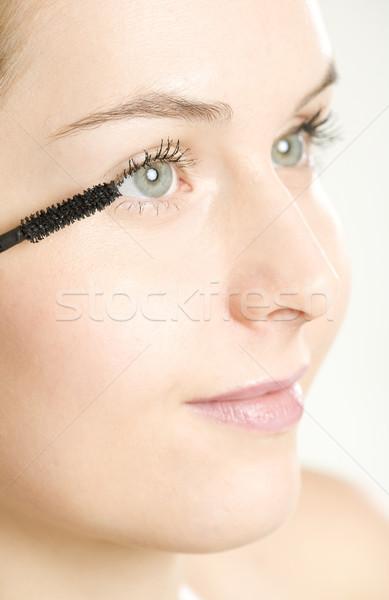 Photo stock: Portrait · composent · femme · beauté · visages · jeunes