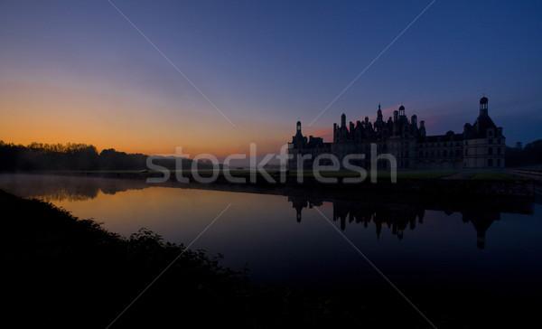 Chambord Castle at sunrise, Loir-et-Cher, Centre, France Stock photo © phbcz