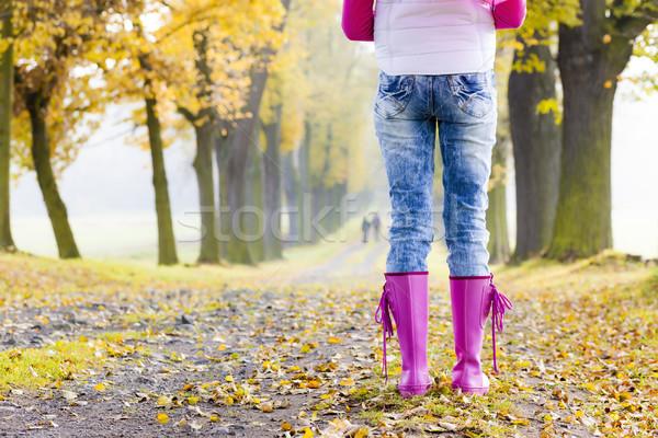 Detay kadın sonbahar geçit Stok fotoğraf © phbcz