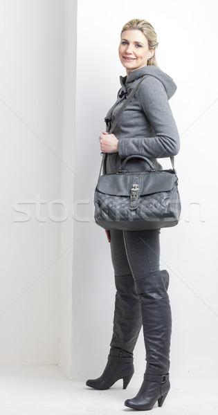 女性 着用 グレー 服 ハンドバッグ 人 ストックフォト © phbcz