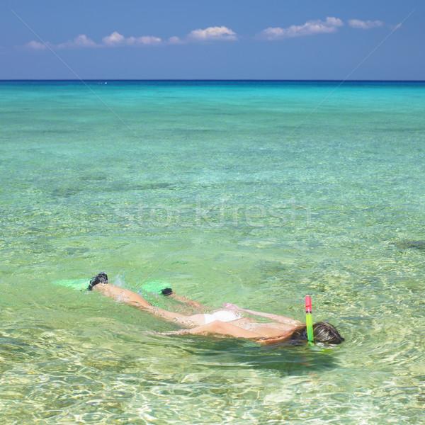 snorkeling, Mar Stock photo © phbcz