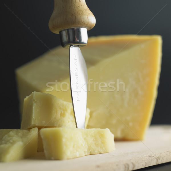 Queso parmesano salud queso amarillo nutrición Foto stock © phbcz