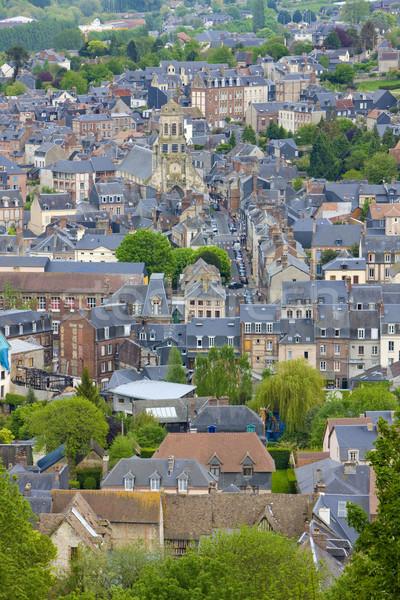 Normandia França edifício viajar arquitetura casas Foto stock © phbcz