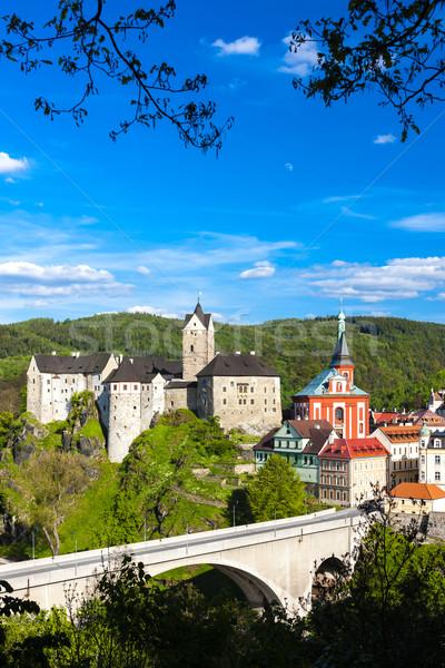 城 町 チェコ共和国 家 橋 旅行 ストックフォト © phbcz