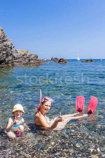 Mediterraneo mare Francia donna estate Foto d'archivio © phbcz