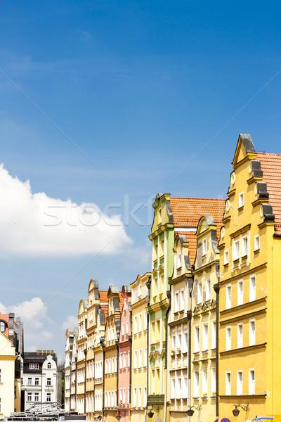 Kare Polonya ev Bina mimari Avrupa Stok fotoğraf © phbcz