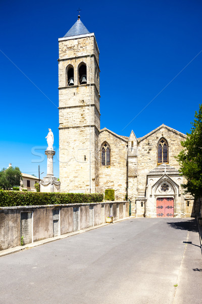 church of St-Laurent, Roujan, Languedoc-Roussillon, France Stock photo © phbcz