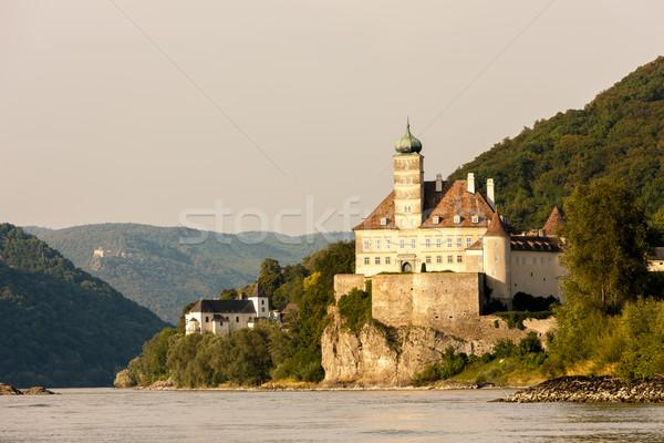 Palota Duna folyó alsó Ausztria épület Stock fotó © phbcz
