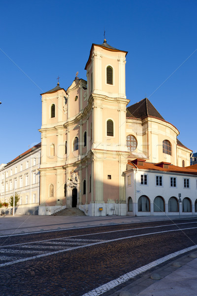 Biserică Bratislava Slovacia constructii oraş arhitectură Imagine de stoc © phbcz