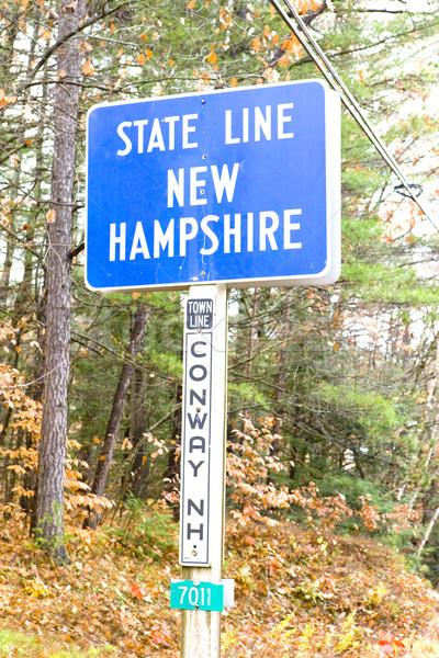 Teken grens New Hampshire Maine USA Stockfoto © phbcz