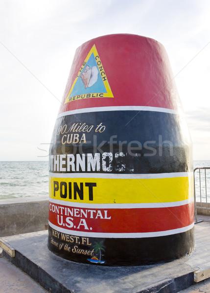 Ponto marcador chave ocidente Flórida EUA Foto stock © phbcz