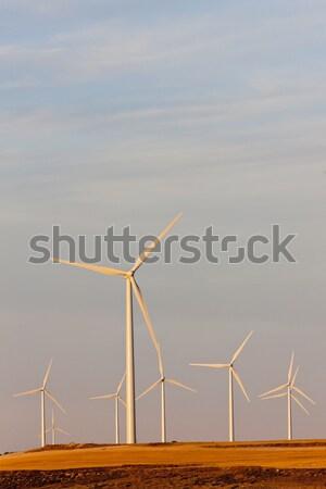 Stock photo: wind turbines, Castile and Leon, Spain