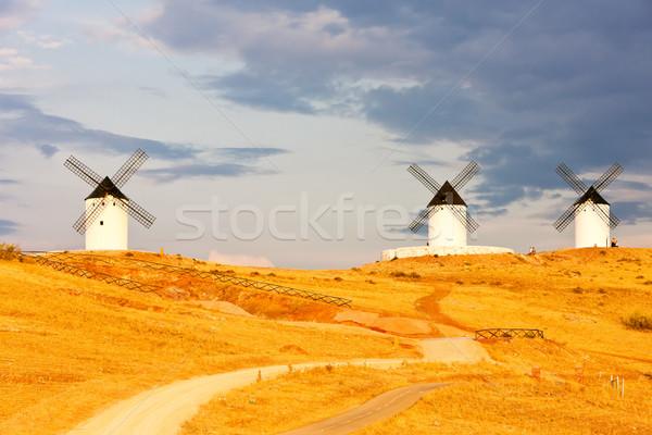 San juan Spanje reizen architectuur molen buitenshuis Stockfoto © phbcz