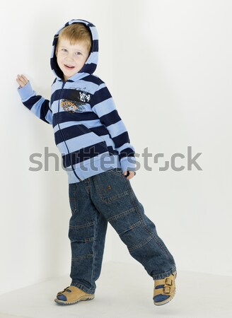 standing toddler with toys Stock photo © phbcz
