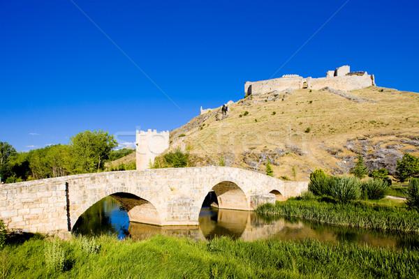 bridge and Osma Castle, El Burgo de Osma, Soria Province, Castil Stock photo © phbcz