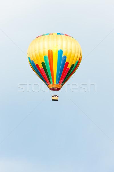Hőlégballon Franciaország légy Európa léggömb levegő Stock fotó © phbcz