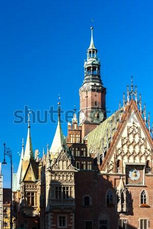 Ayuntamiento principal mercado cuadrados Polonia edificio Foto stock © phbcz