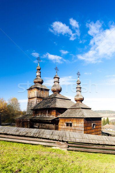 wooden church, Museum of Ukrainian village, Svidnik, Slovakia Stock photo © phbcz
