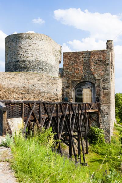 Ruinas castillo República Checa edificio puente viaje Foto stock © phbcz