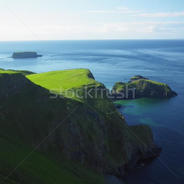 Deniz manzarası kuzey İrlanda deniz yeşil mavi Stok fotoğraf © phbcz