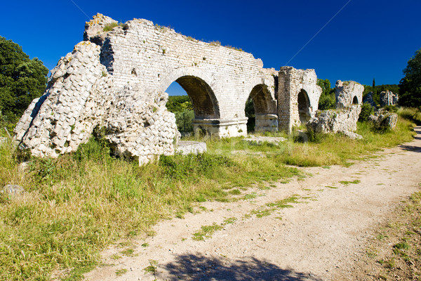 ruins of Roman aqueduct near Meunerie, Provence, France Stock photo © phbcz