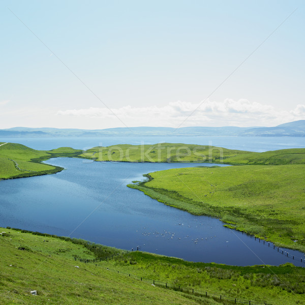 Sziget északi Írország tenger kék tó Stock fotó © phbcz