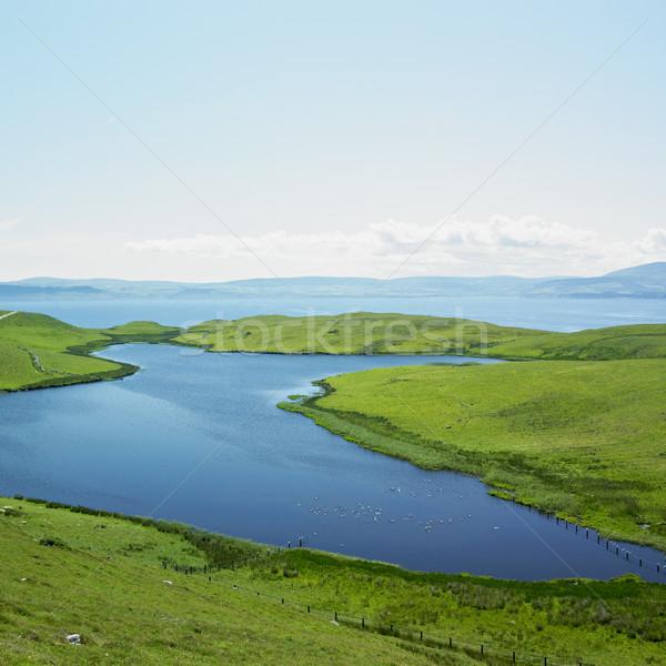 Ilha norte Irlanda mar azul lago Foto stock © phbcz