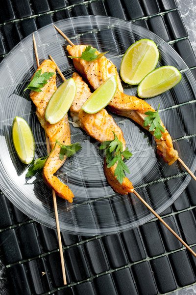 salmon skewers Stock photo © phbcz