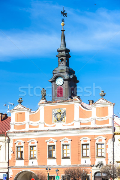 town hall at Ressel's Square, Chrudim, Czech Republic Stock photo © phbcz